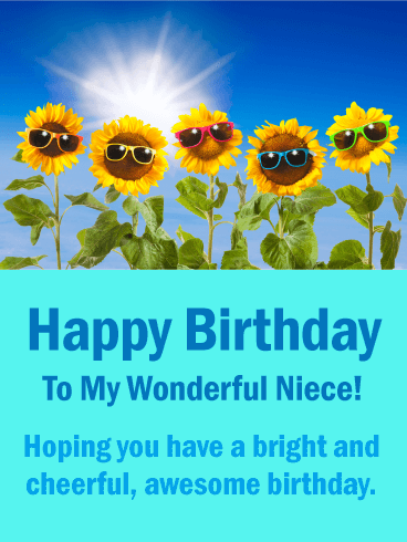 Sunflowers Funny Birthday Card For Niece This Is Certainly A Cheerful And Cute Happy Your Will Love It Features Image Of