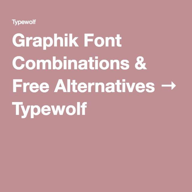 Graphik Font Combinations & Free Alternatives → Typewolf