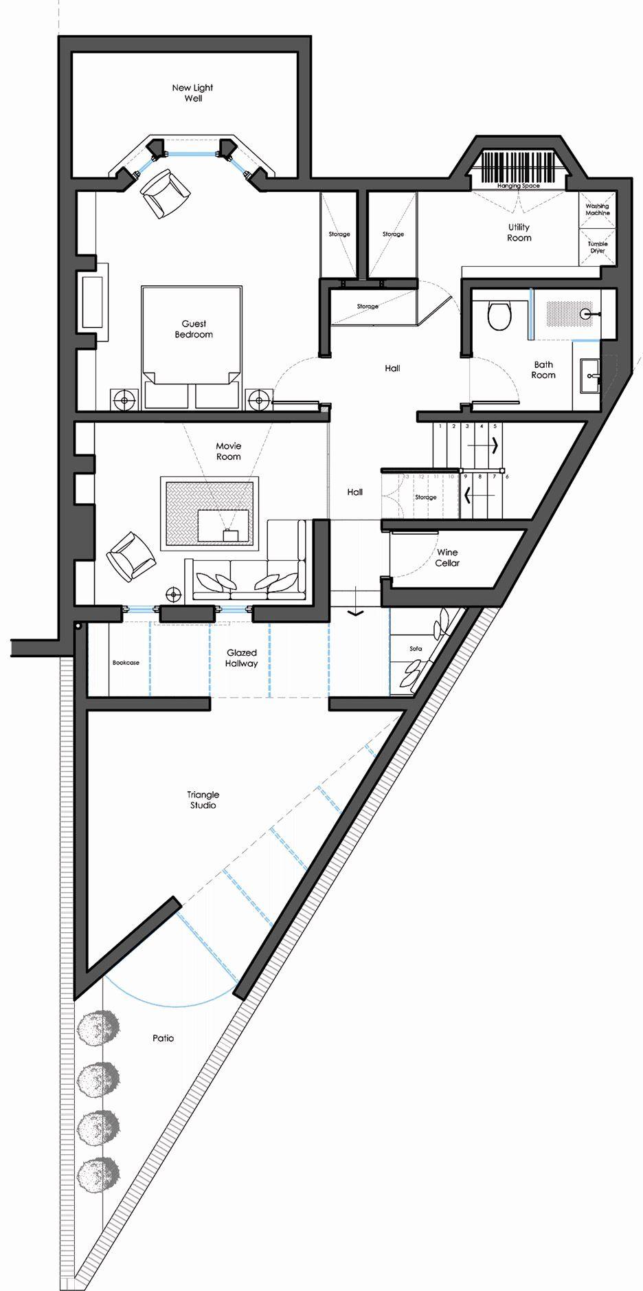 Triangular Lot House Design