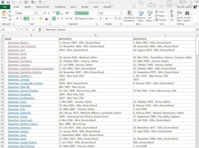 I posted an Excel trick on the Organized Genealogist , Technology