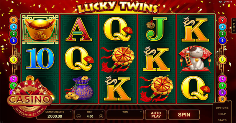 Play the No Download Lucky Twins Slot Machine
