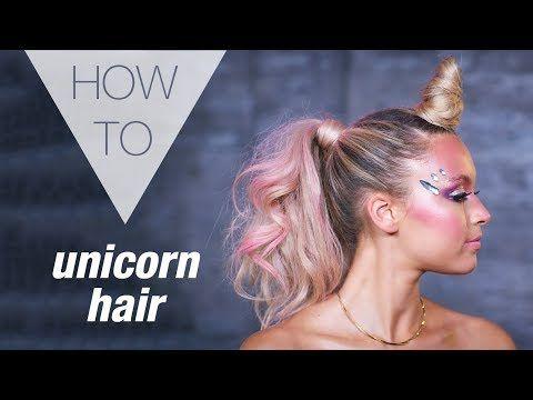 UNICORN | HALLOWEEN | HOW TO HAIR TUTORIAL #crazyhairday