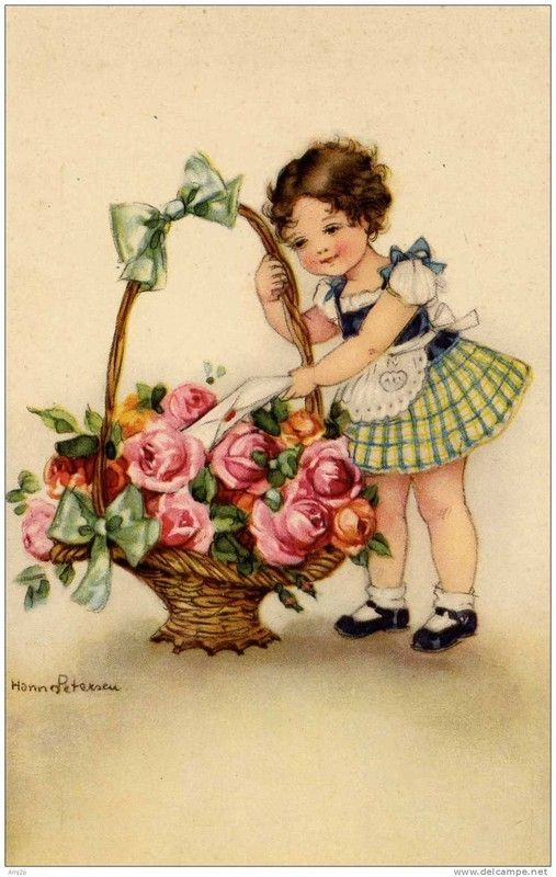Старые винтажные открытки с днем рождения