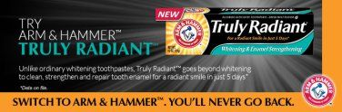 Arm & Hammer Truly Radiant Toothpaste @Smiley360 #FreeSample