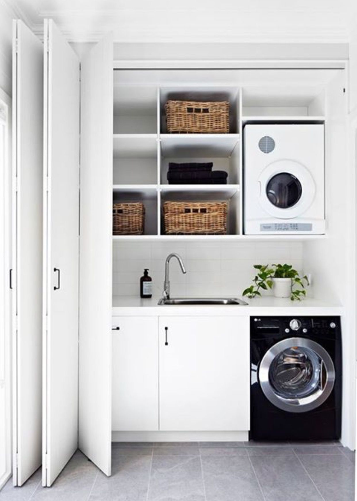 White closet laundry! | La Molina otros | Pinterest | White closet ...