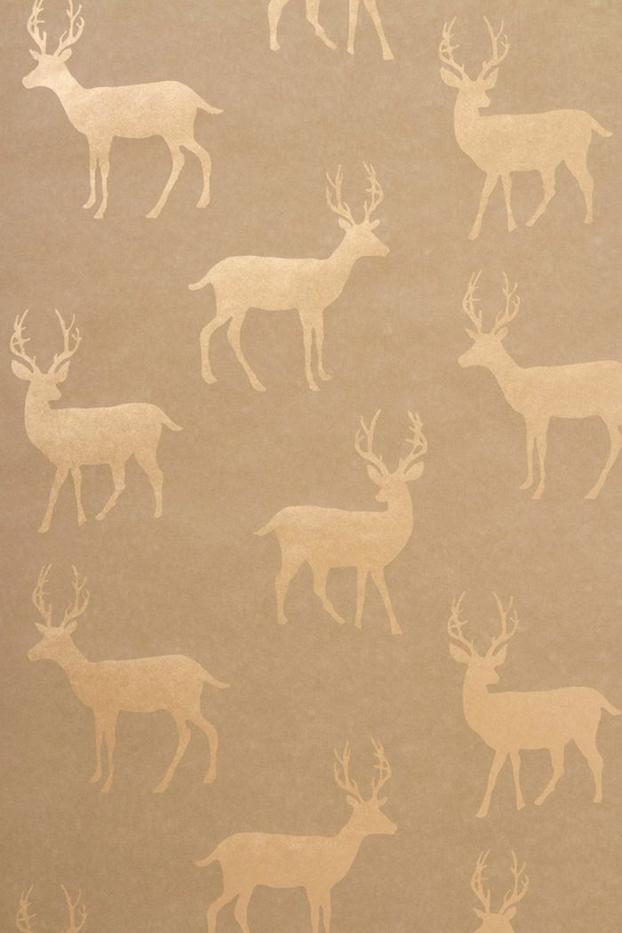 Metallic stag wallpaper by anthropologie home is where for Anthropologie wallpaper