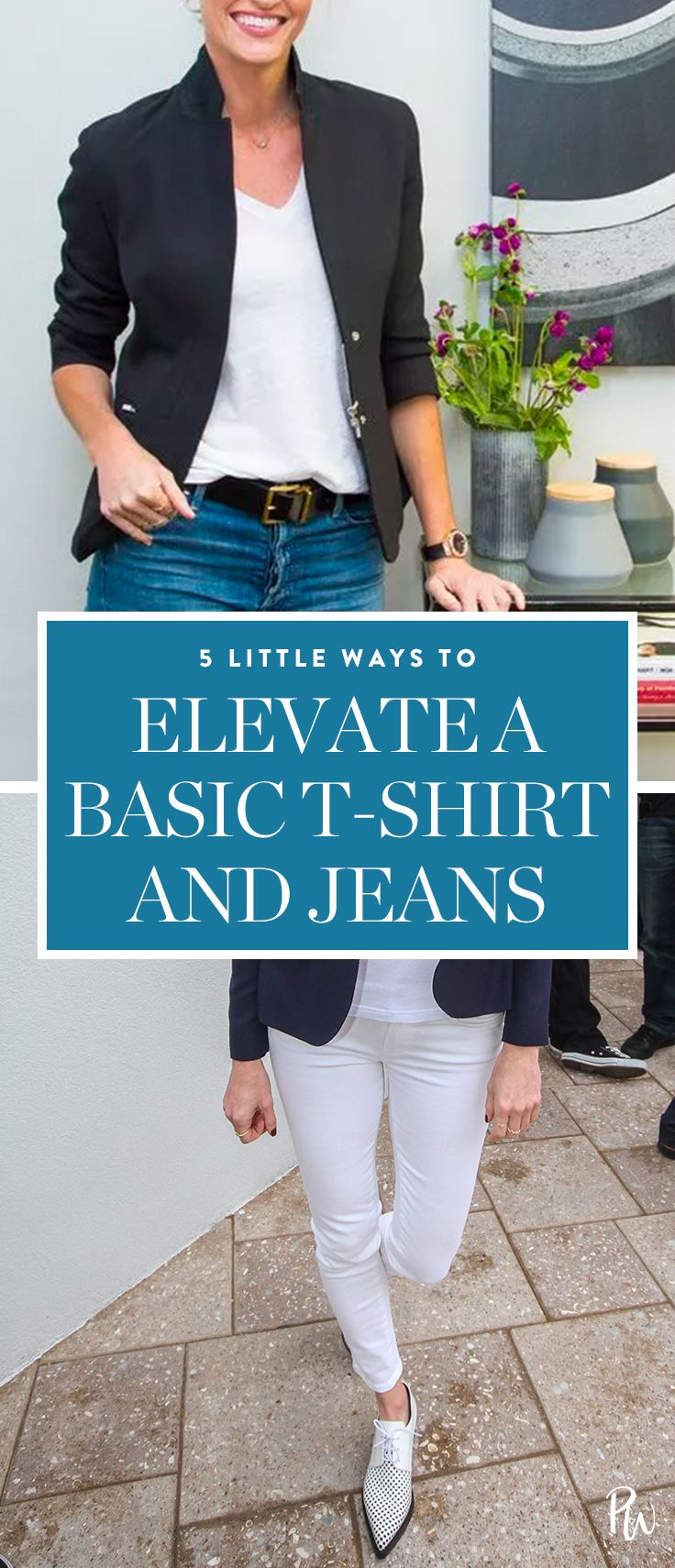 how to dress up jeans and a t shirt