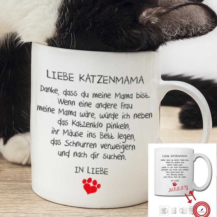 Liebe Katzenmama Tasse #lustigegeschenke