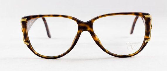 New old stock VALENTINO eyeglass frame Tortoise Oversized lenses ...