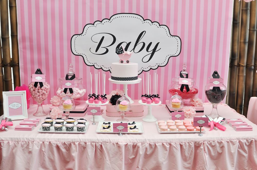pink baby shower desserts | Baby Photos/Maternity Shots | Pinterest ...