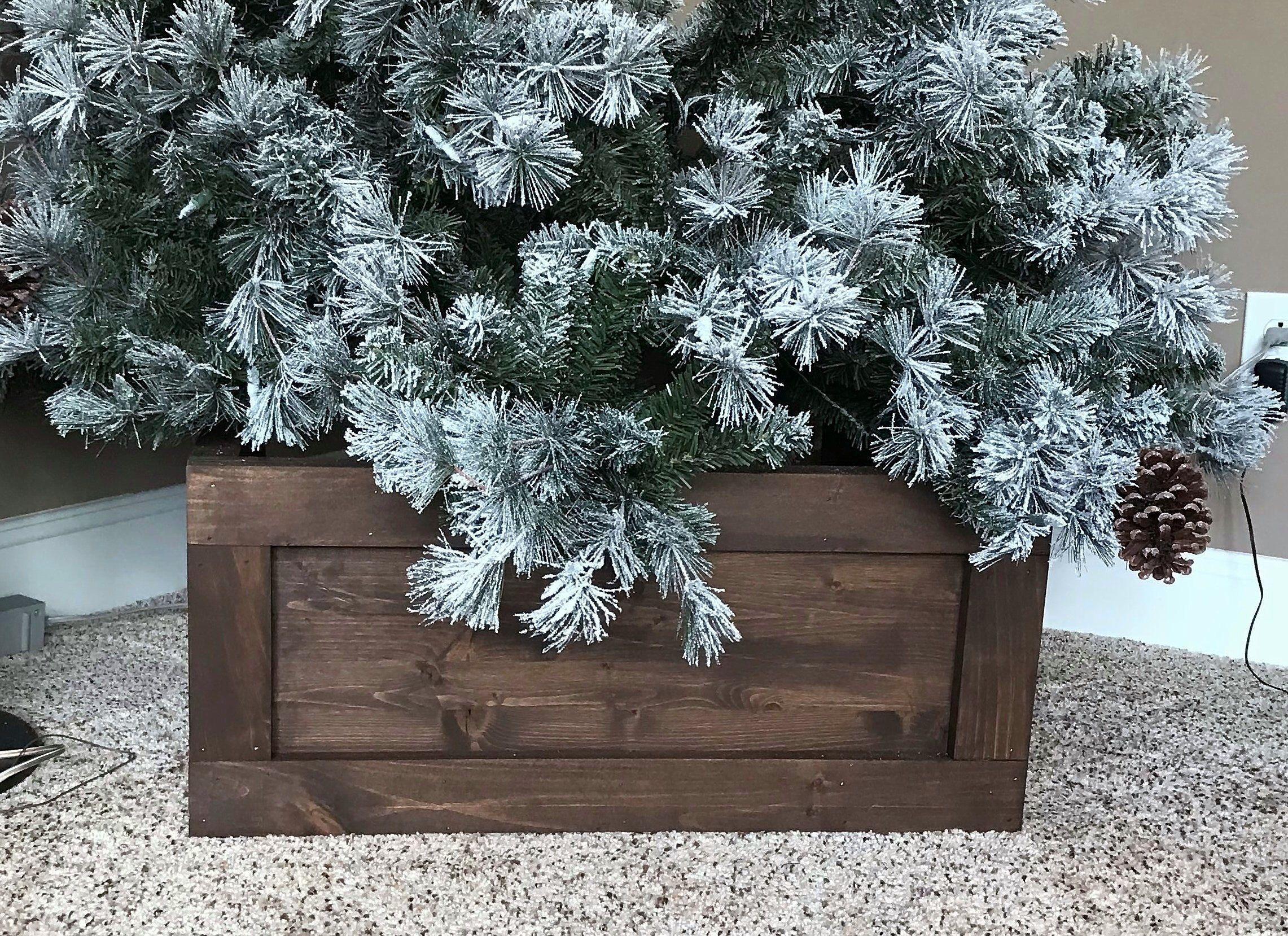 Folding Wood Christmas Tree Box Stand Wood Tree Skirt Etsy Christmas Tree Box Wood Christmas Tree Christmas Tree Box Stand