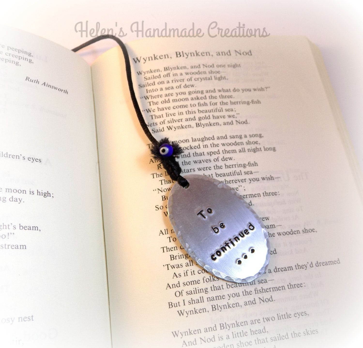 Bookmark To Be Continued Book Readers Gift Birthday Personalized Teachers By Helenshmcreations On Etsy