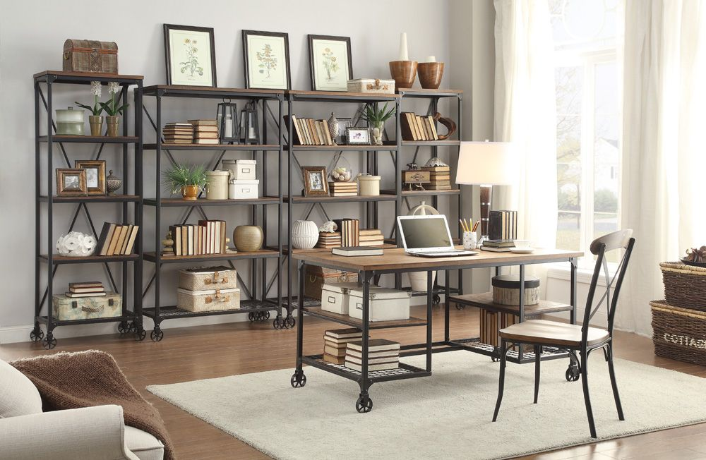Combine An Industrial Look With Modern Traditional Design Could You Picture It In Your Home Find This Pin And More On Office By Rcwilley
