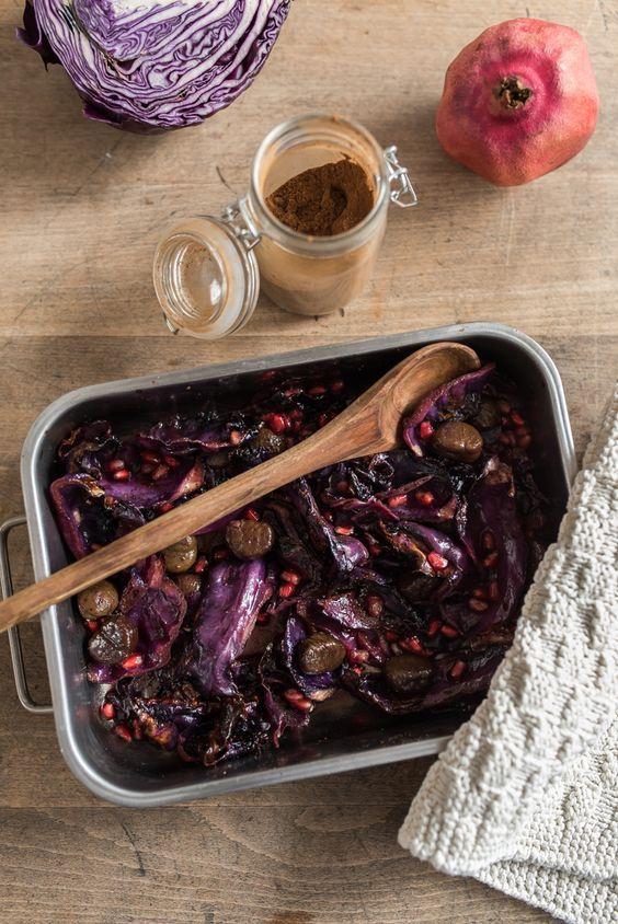 Herbstrezepte: Ofenrotkohl mit Maronen und Würzmischung für Schmorgerichte - Leelah Loves