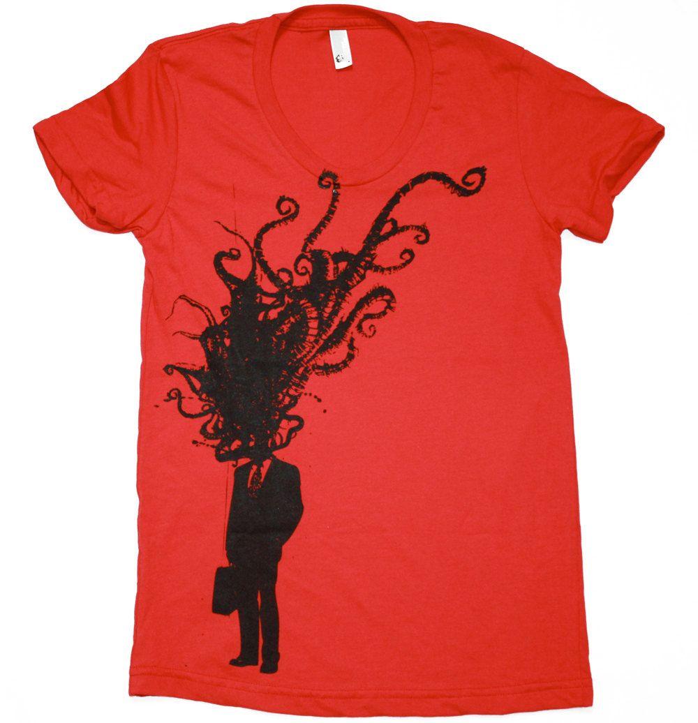 Shirt design octopus - Octopus Clothing Ladies Tshirt Octopus Tentacle Explosion Corporate Man T Shirt S M L