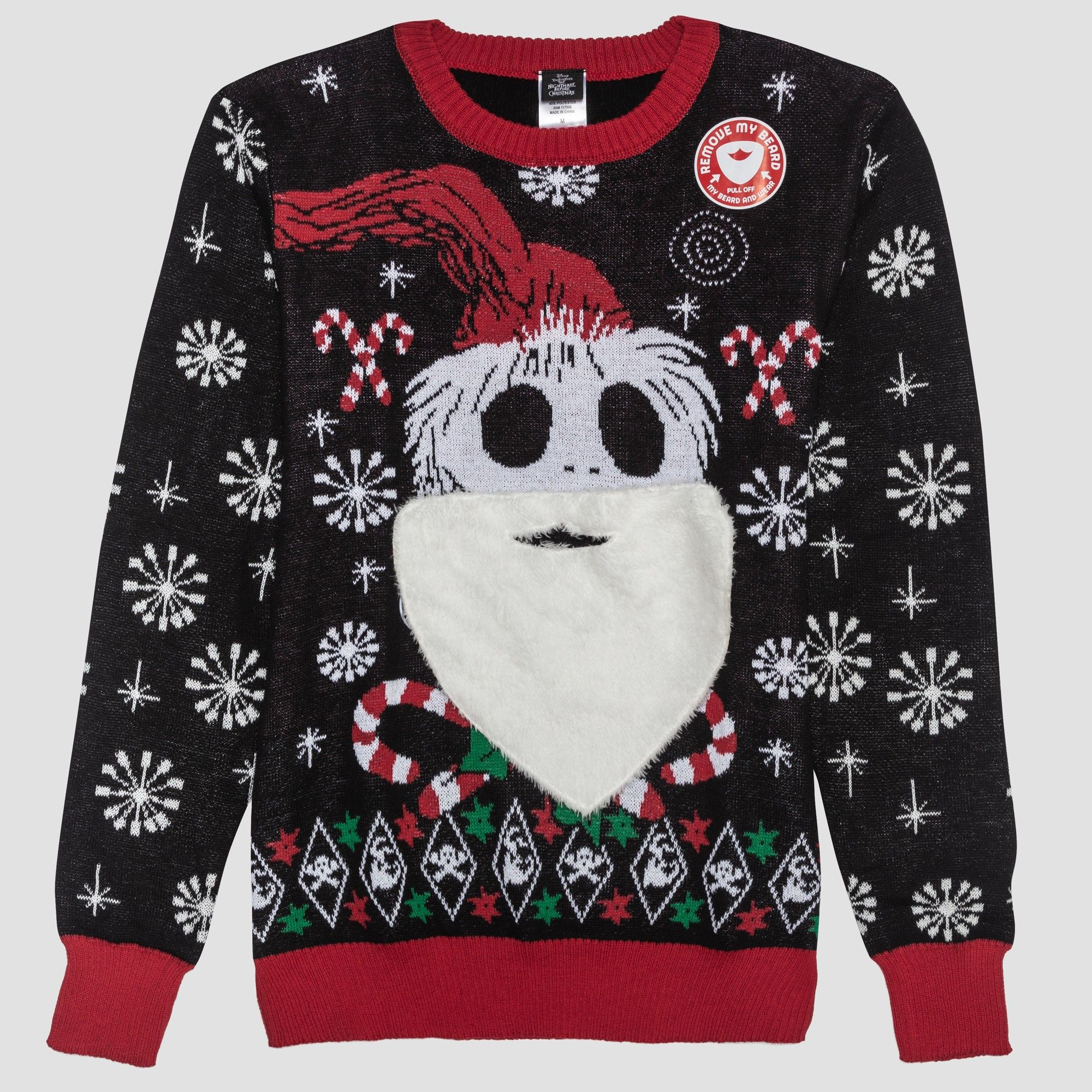 Men\'s Tall Ugly Holiday Nightmare Before Christmas Sweater ...