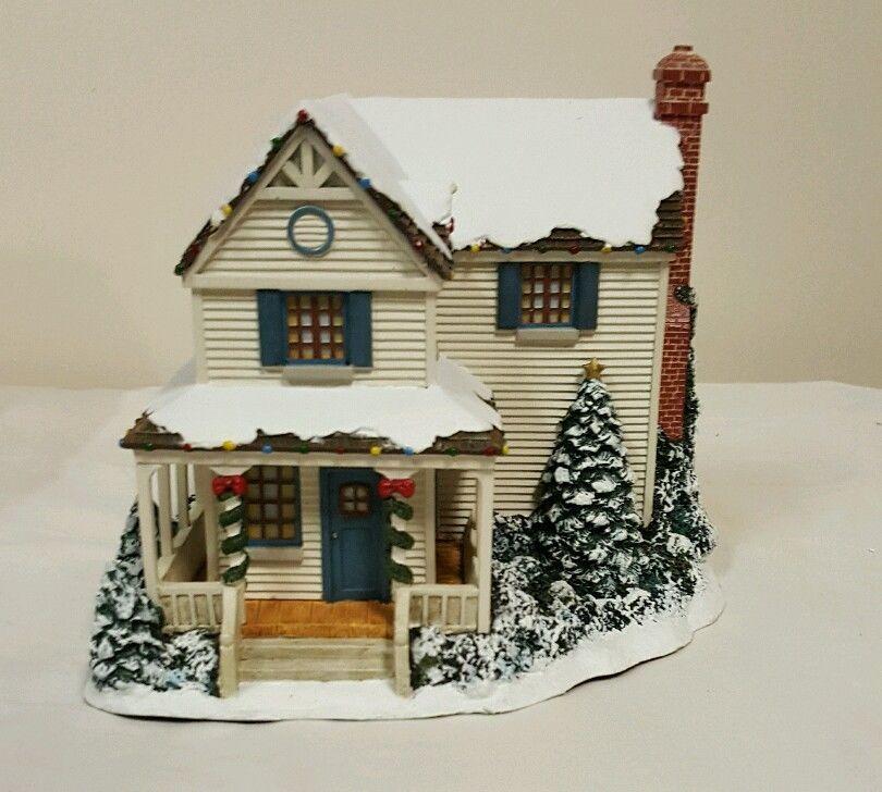 Thomas kinkade victoria 39 s christmas house home lighted for Hawthorne fish house