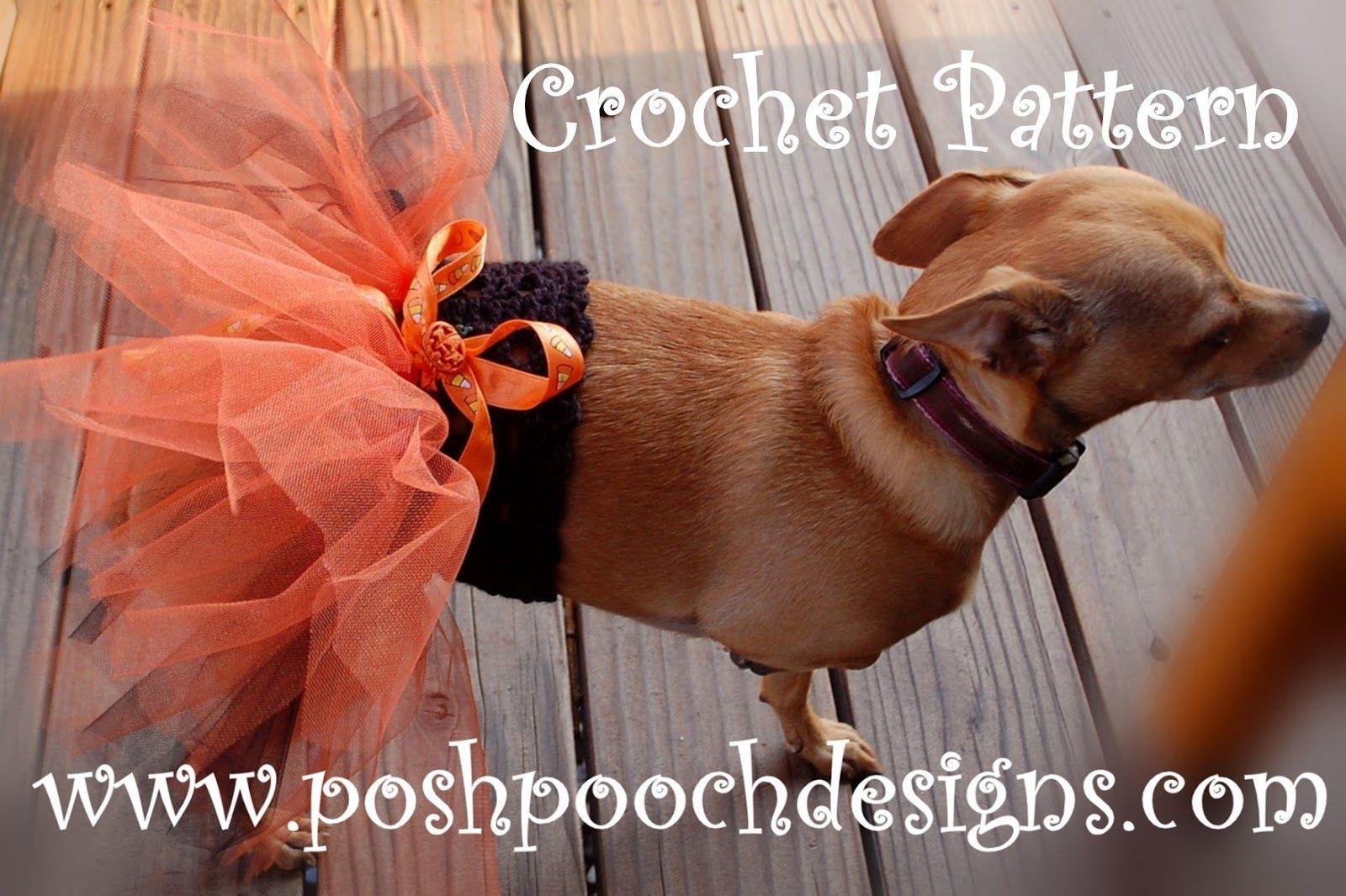 Posh Pooch Designs Dog Clothes: Doggie Tutu Free Crochet Pattern | A ...