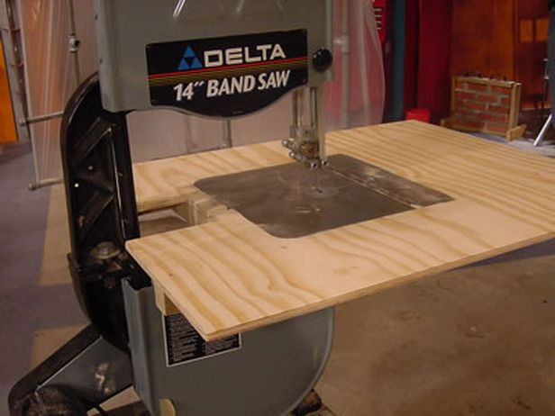 How To Make A Band Saw Auxiliary Table Woodworking Shop Projects Bandsaw Woodworking Bandsaw