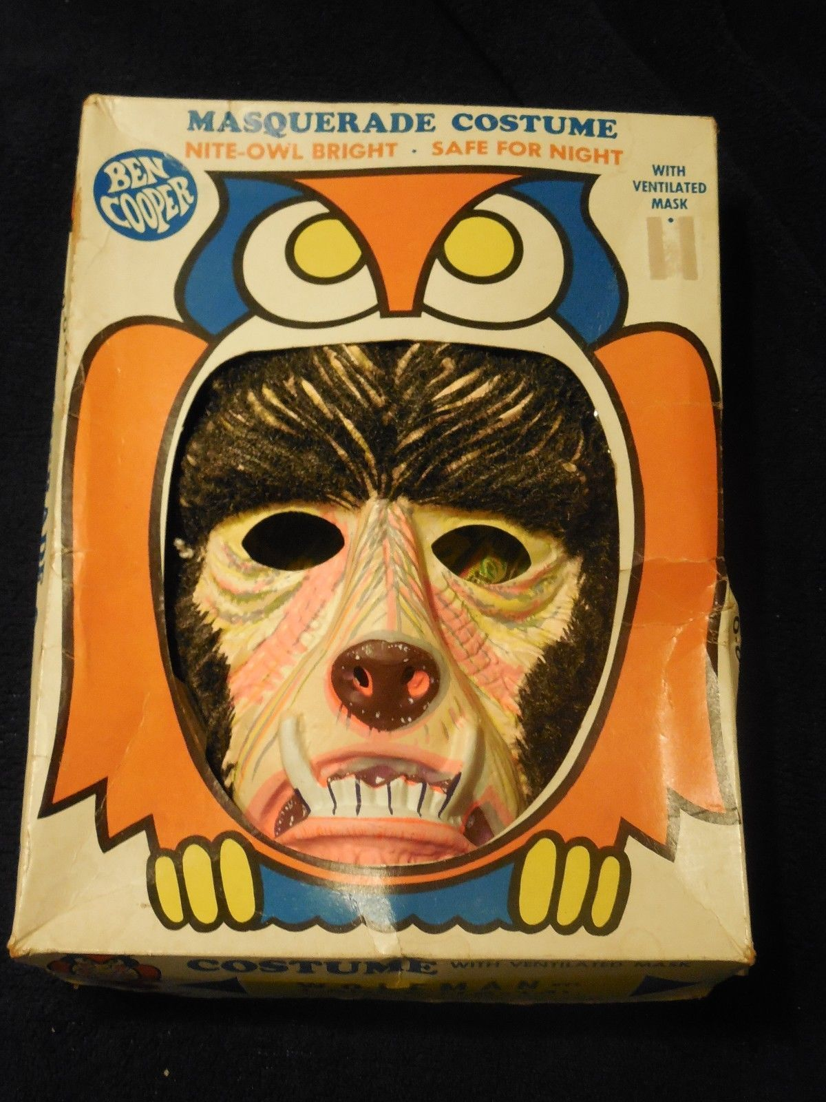 Ben Cooper Halloween Masks.Masks Accessories Vintage Ben Cooper Werewolf Halloween Mask