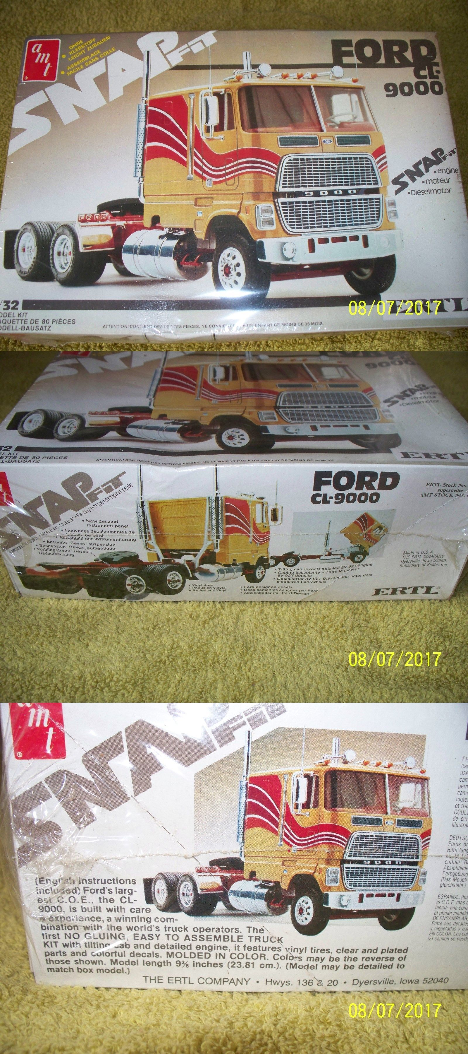 Truck 2584 amt ertl 1 32 ford cl 9000 cabover snap fit kit