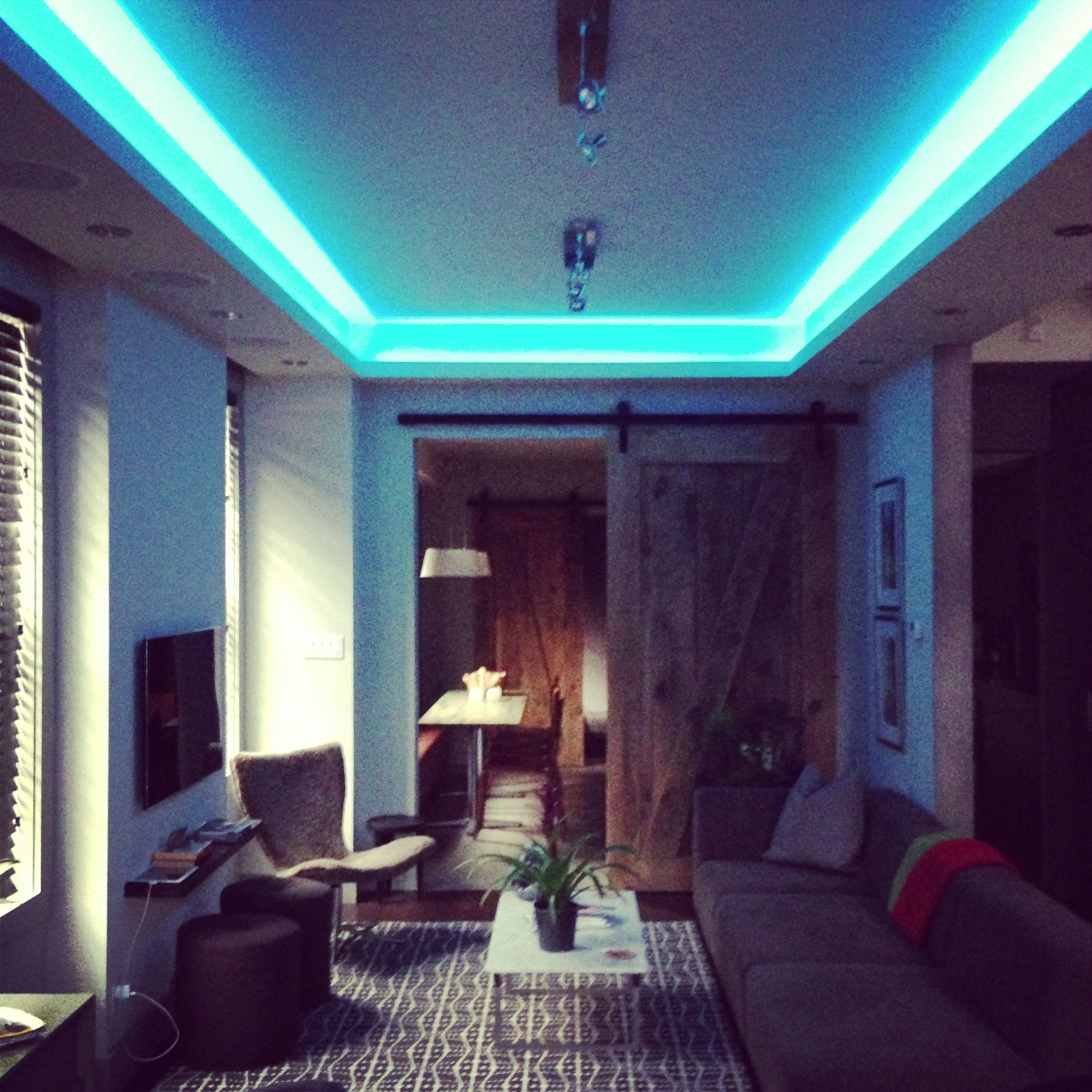 Indirect Lighting Techniques And Ideas For Bedroom Living: Programmable Color Change LED Cove Lighting For Events And