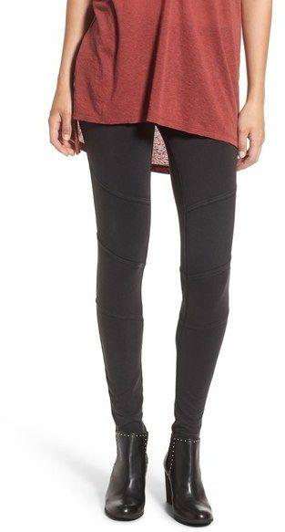 291dc2e53f5be BP. Ribbed Moto Leggings | Womens Leggings | Leggings, Knit leggings ...