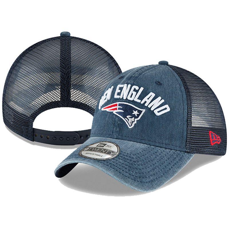 New Era New England Patriots Rugged Trucker Adjustable Hat (Navy) in ... 6cfb7c54b435