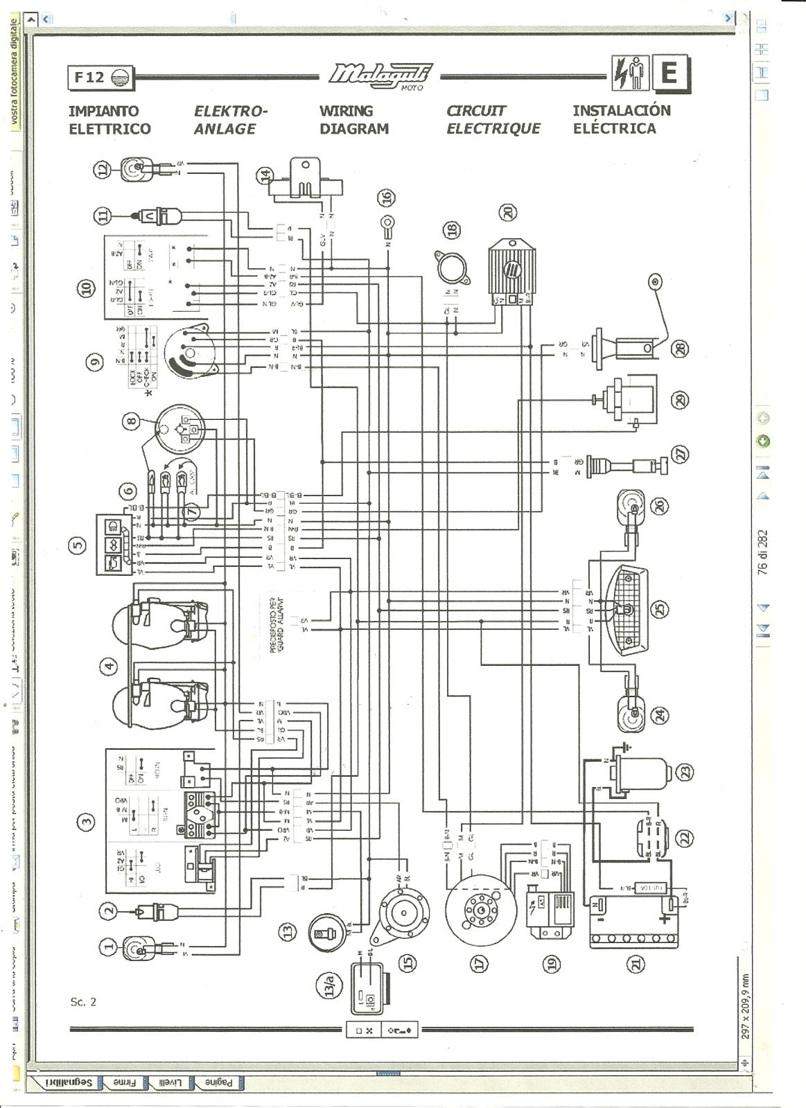 schema elettrico phantom liquido - scooter
