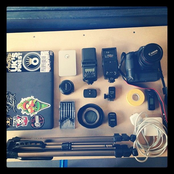 Equipment from a shoot