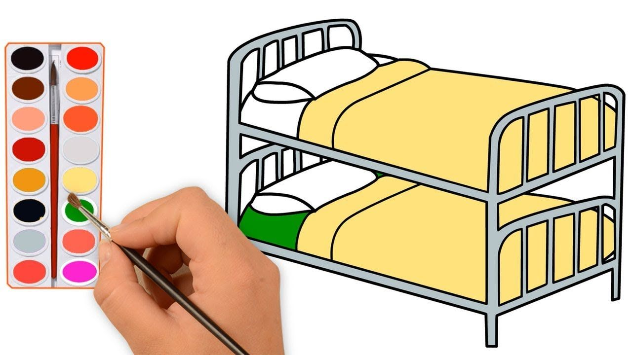 Bed Coloring Pages For Kids How To Draw Girls Bed Coloring Pages For Coloring Pages For Kids Coloring Pages Girl Drawing