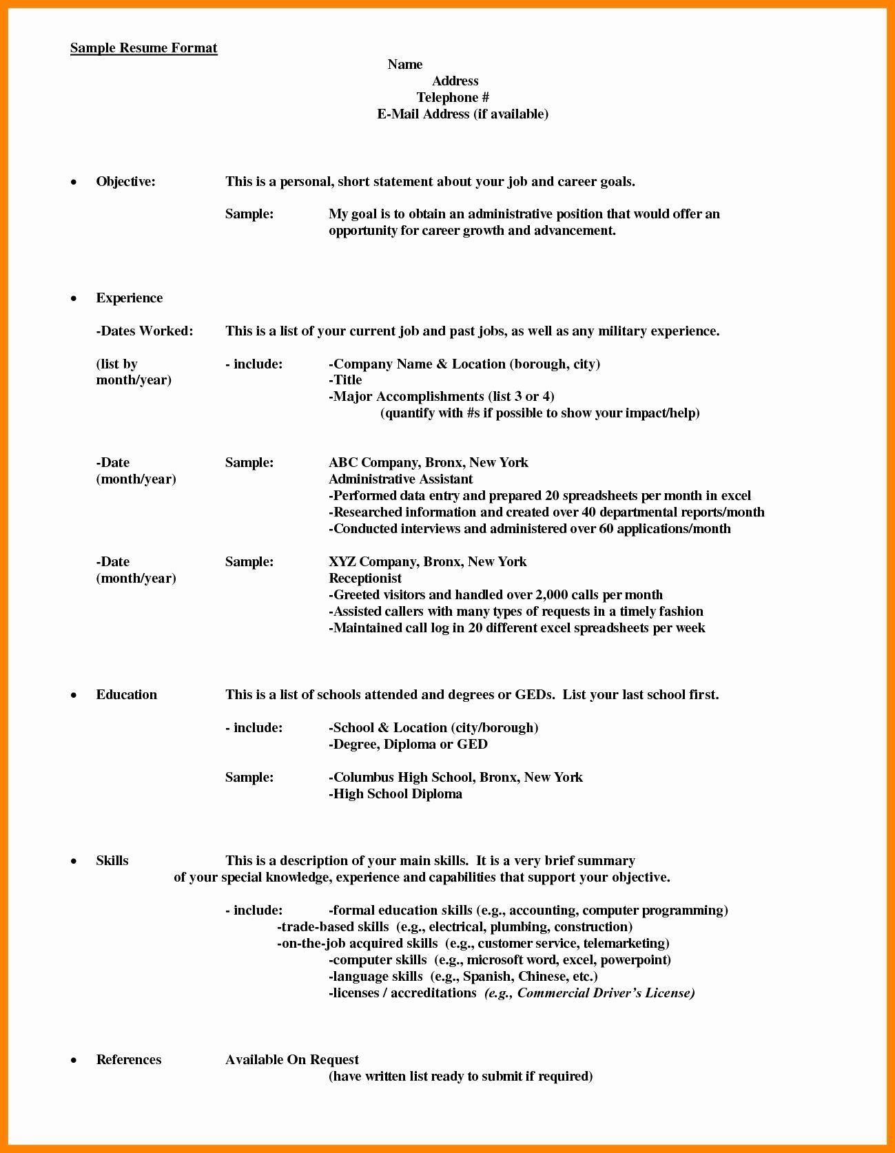 Resume Format Dates Resume Templates Resume Format Chronological Resume Template Resume
