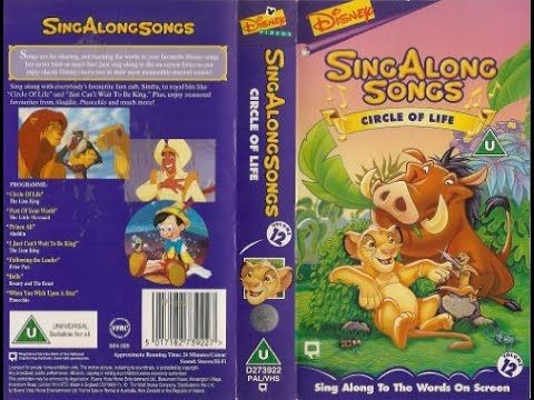 Sing along songs circle of life vhs 1995 youtube for Songs from 1988 uk