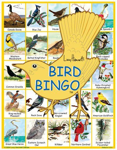 Bingo Game - Birds   A Little Birdie Told Me      Game birds
