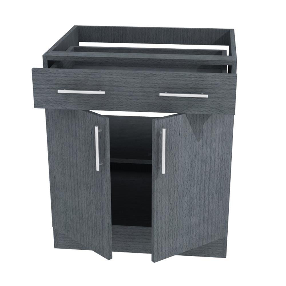 Miami Open Back Outdoor Base Cabinet With 2 Doors And 1
