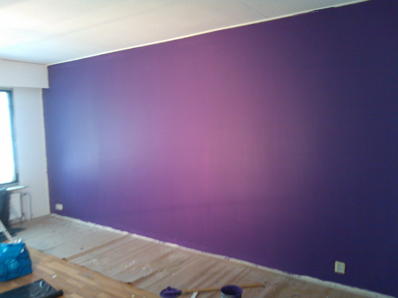 Painted Rooms my living room wall painted with tikkurila's m343 | selfmade