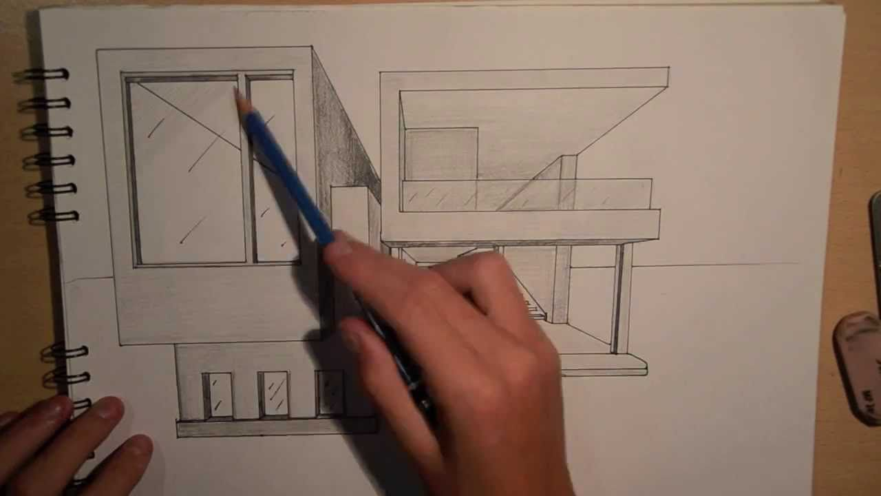Art Architecture Design 2 Drawing A Modern House 1 Point Perspective Drawing House Plans Architecture Drawing Architecture Art