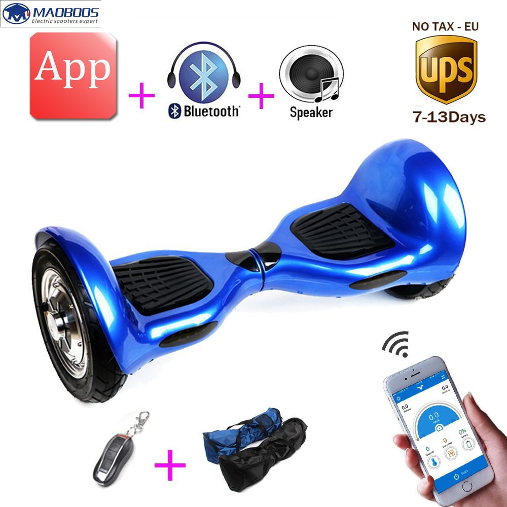 10 Inch Big Tire Hover Board 2 Wheels Skateboard Electric Unicycle Drift Self Balancing Skywalker Standing Scooter Hoverbo Hoverboard Unicycle Electric Scooter