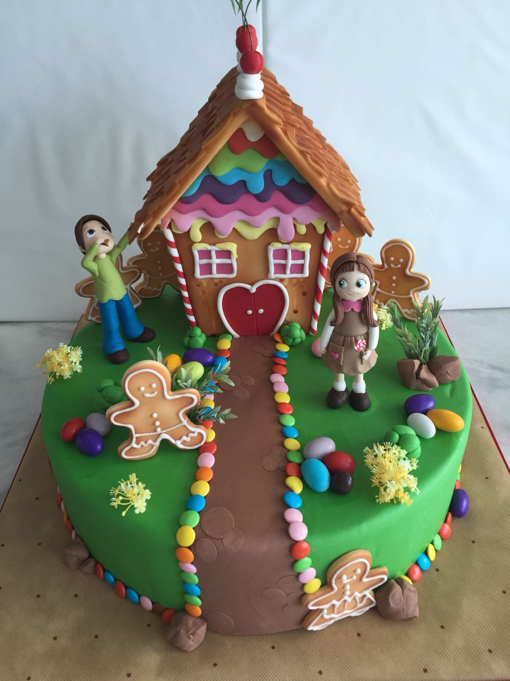 Hansel And Gretel Cake Gingerbread Party Birthday Cake Kids Kids Party Inspiration