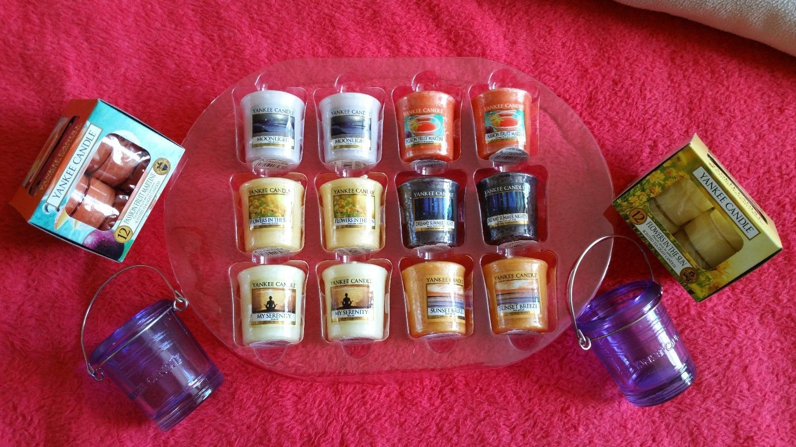 Yankee candle votives u tea lights passion fruit flowers in the