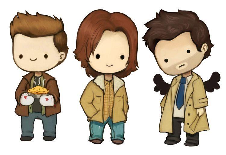 Cute Supernatural Fan Art Supernatural Drawings Supernatural Cartoon Supernatural Art
