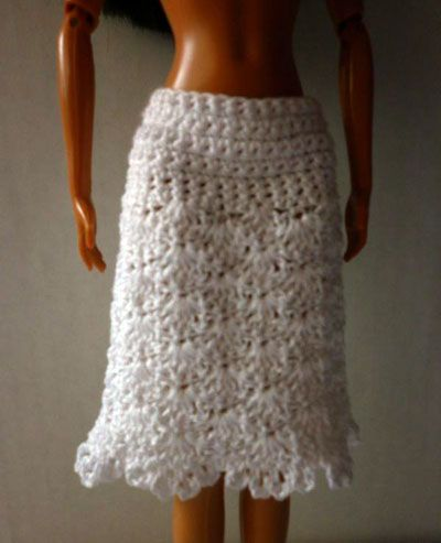 Barbie-skirt ~ you can adjust this pattern to make it longer or ...