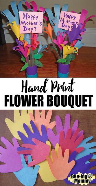 Hand Print Flower Bouquet