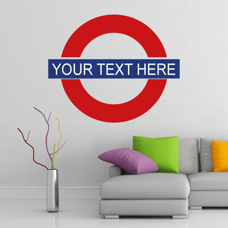 London underground personalised wall sticker decal art custom text sign