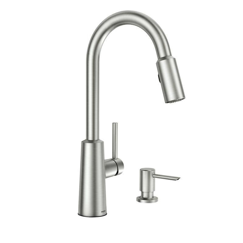 Moen Nori One Handle Stainless Steel Pulldown Kitchen Faucet Pulldown Kitchen Faucets Kitchen Faucet Moen Kitchen Faucet