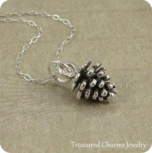 Silver chain pine cones
