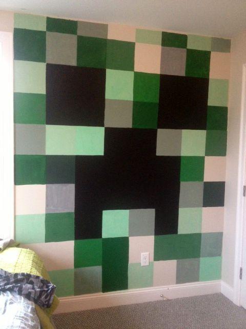 minecraft theme bedroom mommy monday minecraft bedroom Next Bedroom Themes Cinderblock Wall Minecraft Bedroom