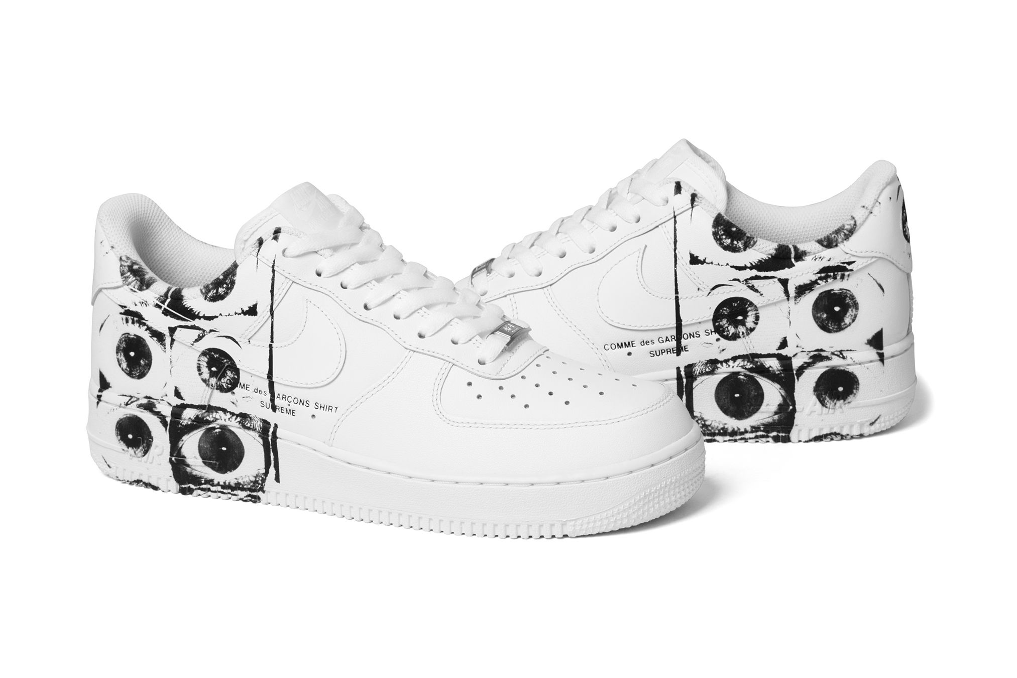 d47ec10b965 Supreme x COMME des GARÇONS SHIRT x Nike Air Force 1 Low Is Dropping This  Week