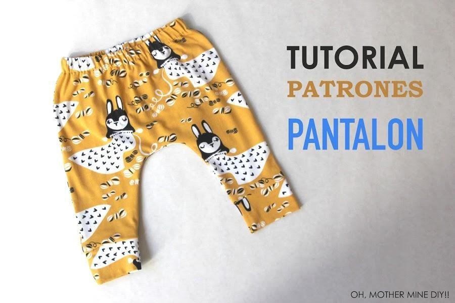 Tutorial y patrones para coser unos leggins de bebé | ropa bebes ...