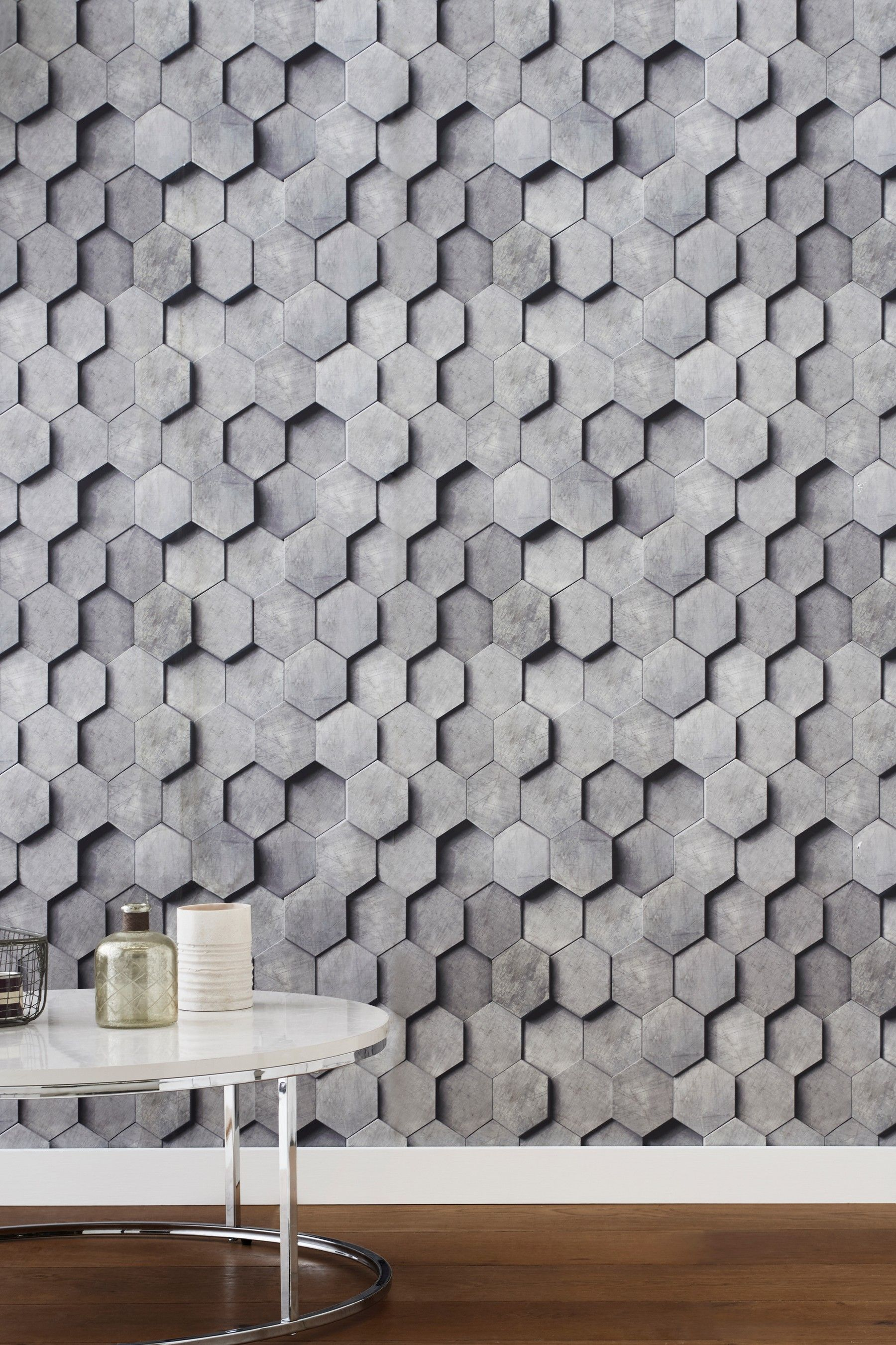 Buy Paste The Wall Hexagonal 3d Wallpaper From The Next Uk